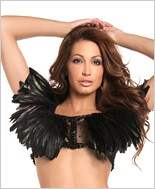 Black Feather Top