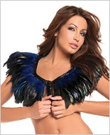Blue Feather Top