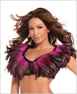 Hot Pink Feather Top