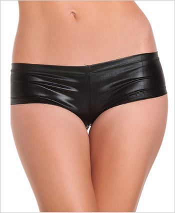 Black Shiny Lycra Shorts