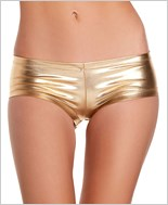 Gold Shiny Lycra Shorts