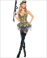 Sexy Army Girl Adult Costume