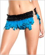 Turquoise Feather Micro Mini Skirt