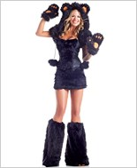 Black Bear Sexy Adult Costume