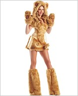 Golden Bear Sexy Adult Costume