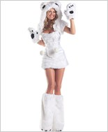Polar Bear Sexy Adult Costume