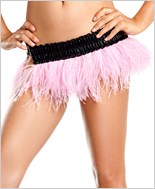 Pink Ostrich Feather Skirt