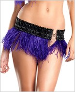 Purple Ostrich Feather Skirt