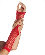 Black Fingerless Fishnet Gloves