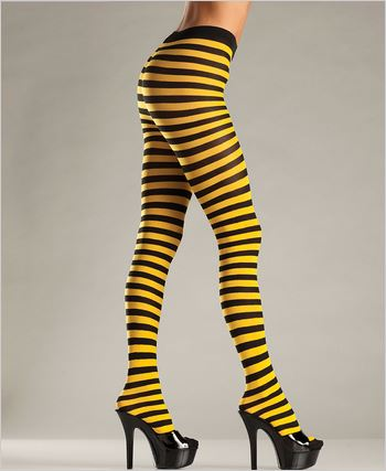 Black And Yellow Striped Tights