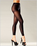 Footless Pantyhose With Lace Cuffs