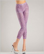 Footless Purple Leopard Print Leggings