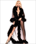 Black Feather Glamour Robe