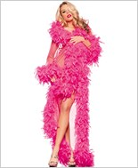 Hot Pink Feather Glamour Robe