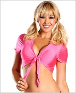 Hot Pink Lycra Tie Top