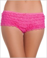 Pink 2 Tone Hot Pants Ruffle Shorts