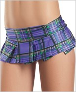 Plum Plaid Mini Skirt