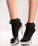 Ankle Socks With Lace Top