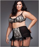 Plus Size High Waisted Garter Belt