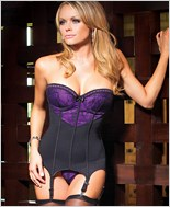 Lace Over Satin Bustier And G-String