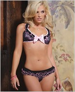 Ruffle Bra And Panty Lingerie Set