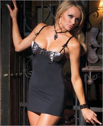Chemise And G-String Lingerie Set