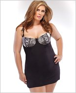 Plus Size Chemise And G-String Lingerie Set