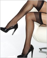 Plus Size Sheer Thigh High Stockings