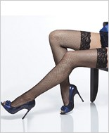Plus Size Lace Top Fishnet Stockings