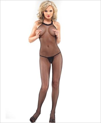Fishnet Crotchless Bodystocking