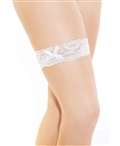 Scalloped Stretch Lace Leg Garter with Bow CQ-192