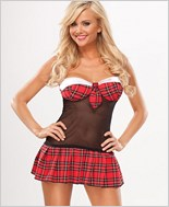 School Girl Plaid Bedroom Costume
