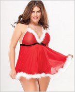 Plus Size Lovely Santa Bedroom Costume