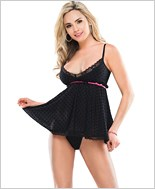 Polka Dot Babydoll And G-String