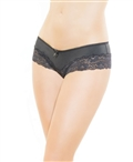 Microfiber and Stretch Lace Hipster Panty CQ-216