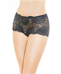 Lace High Waisted Panty with Mesh Cutout CQ-217