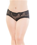 Plus Size Stretch Lace High Waisted Panty CQ-217X