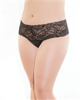 Stretch Lace and Microfiber High Waisted Thong CQ-225X