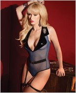 Mesh Cop Teddy with Halter Neckline CQ-2418