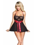 Shelf Bra Babydoll with G-String CQ-2452