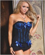 Black And Blue Fully Boned Corset