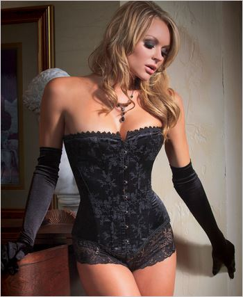 Brocade Corset With Boning