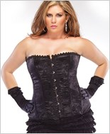 Plus Size Brocade Corset With Boning