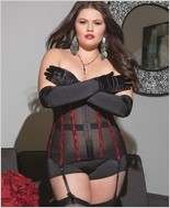 Plus Size  Fully Boned Powernet Waist Cincher CQ-3580X