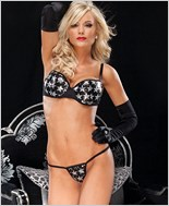 Silver Star Bra And G-String Set
