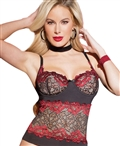 Rose Lace Bustier CQ-3804