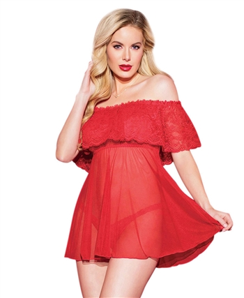 Flamenco Frills Babydoll and Thong CQ-3808