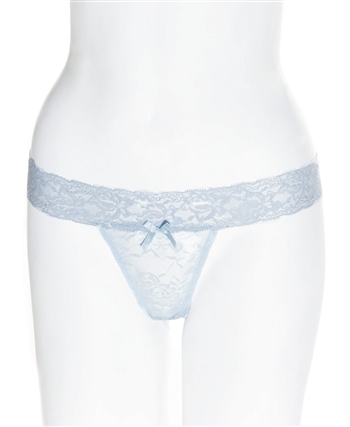 Plus Size Stretch Lace Thong with Waistband CQ-4091X