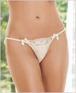 Satin And Rigid Eyelash Lace Panty CQ-7009