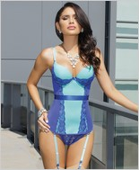 Microfiber bustier with push-up cups CQ-7027